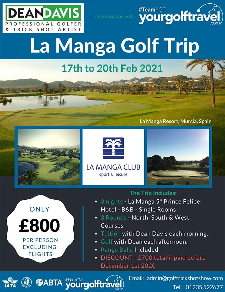 La Manga Golf Trip - February 2021 | Golf Lessons in La Manga | Golf Holiday in Spain | Golf Holiday to La Manga | Organised Golf Trip Spain